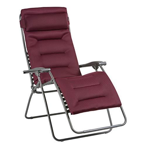 Lafuma Fauteuil Relax, Pliable et réglable, RSX Clip XL, Air Comfort, Couleur: Bordeaux, LFM2041-8720