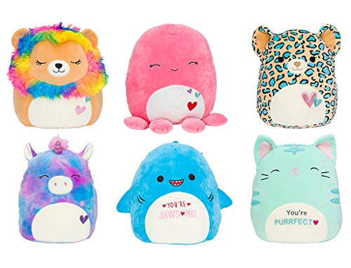 """Squishmallow 2021 Valentine 8"""" (Set of 6) #A Collection Plush Doll"""