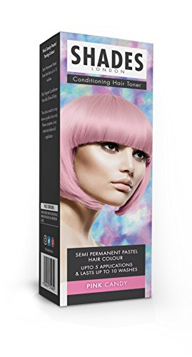 Shades London Semi-permanente Pastell-Haartönung Pink Candy, 1er Pack(1 x 75 ml)