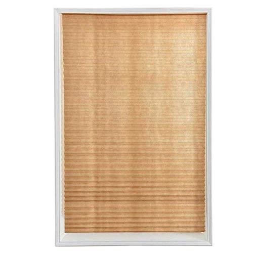 Selbstklebende Plissee-Vorhänge, halbverdunkelnd, für Badezimmer, Fenster, Vorhänge, Balkone, Wohnzimmer, Fensterdekoration