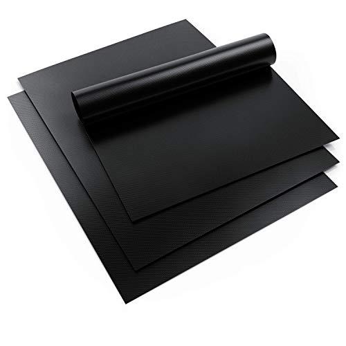 Arendo - Grillmatte 40x50cm wiederverwendbar - 3er Set – PTFE – antihaftbeschichtet – Spülmaschinenfest – Antihaft Backmatte Backpapier - BPA-frei – PFOA-frei - Kohlegrill Gasgrill Backofen Herd
