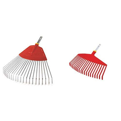 WOLF-Garten - Fächerbesen multi-star® UF-M, Rot, 50x50x5 cm; 71AAA030650 & multi-star® Kunststoffbesen UI-M; 3554000