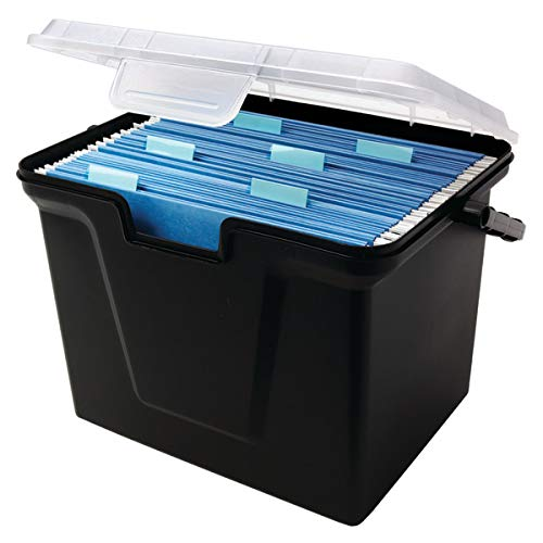 Office Depot 30% Recycled Portable File Box, 10 11/16in.H x 14 11/16in.W x 10 3/8in.D, 50649