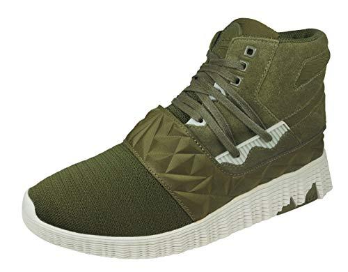 Supra Jagati Herren Sneaker Boots Hohe Freizeit Schuhe-Green-40