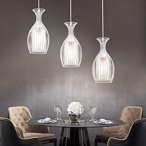 NZDY 3-Luces Blanco Lámpara Colgante Simple Lámpara Europea Moderno Luces Colgantes Ejecutivos Creativa Ajustable E27 Sala de Estar Iluminación Araña Dormitorio Dormitorio Decorativo Colgante Luz