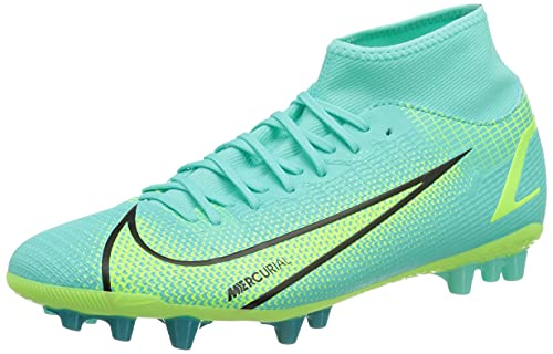 Nike Superfly 8 Academy AG, Scarpe da Calcio Unisex-Adulto, Dynamic Turq/Lime Glow-off Noir, 44 EU