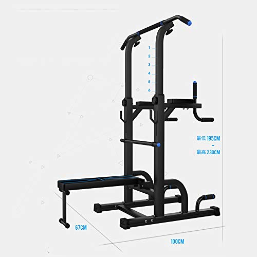 HLH-Fitness Equipment Durable Relife Rebuild Your Life Power Tower Workout Dip Station for Home Relife Rebuild Your Life Non-Slip (Color : Blue, Size : 67100195CM)