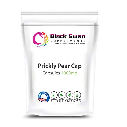 Black Swan Prickly Pear Opuntia Cactus 1000mg Veggie Capsules – with Silica, Vitamin C, B-Family Vitamins – Healthy Digestive System (30 Caps)