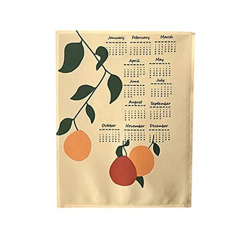 NUOBESTY Calendário de parede 2020, planejador semanal de gerenciamento de projetos para pendurar calendários, decoração de escritório