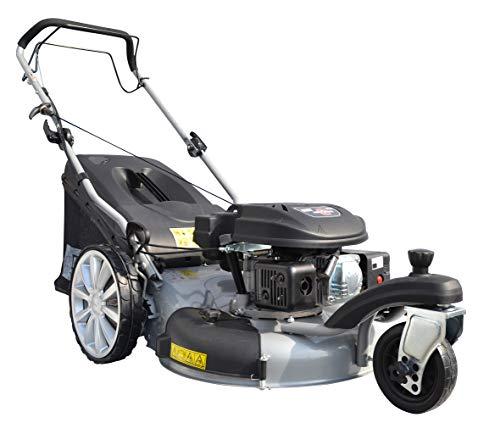 GÜDE 95376 Rasenmäher Big Wheeler Trike 515 D 4in1 Rasenmäher (6-fache Schnitthöhenverstellung, Schnittbreite 508 mm) Silber schwarz
