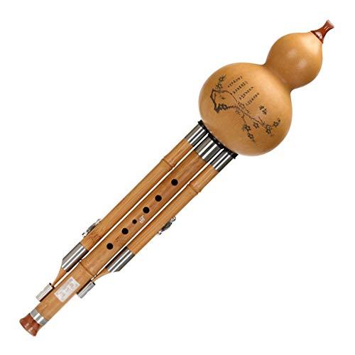 Hulusi Flöte Bambusflöte Nationales Blasinstrument Für Erwachsenenanfänger Timbral-Weichheit Holzblasinstrumente (Color : F-Key)