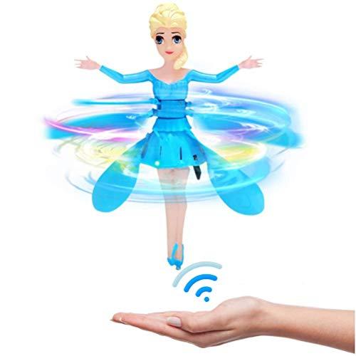 CYGG Hinder Volando, niñas de Hadas de Juguete, muñecas, alas mágicas, Volando, muñeca de Hadas Control de inducción RC avión