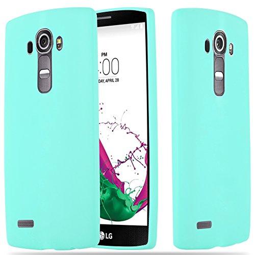 Cadorabo Funda para LG G4 / G4 Plus en Candy Azul – Cubierta Proteccíon de Silicona TPU Delgada e Flexible con Antichoque – Gel Case Cover Carcasa Ligera
