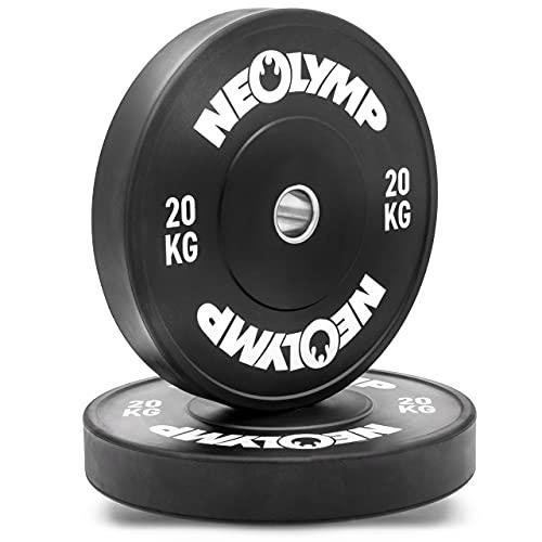 NEOLYMP Bumper Plates   Vollgummigranulat Hantelscheiben   Gewichtscheiben   Studioqualität   20 KG   BPL210