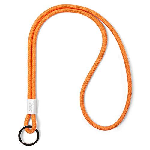 Pantone Design-Schlüsselband Key Chain Long, Schlüsselanhänger zum Umhängen, robust und farbenfroh, 021C, Nylon, Orange 021, lang