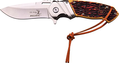 Elk Ridge Couteau d'extérieur Hunter Manche en OS modèle, Longueur cm : 12,0 fermé, elkr de 1255