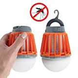 EZ Zap 2 EZZap 2 Pack Zapper Rechargeable LED Lamp Killer Light Bee Z, Orange