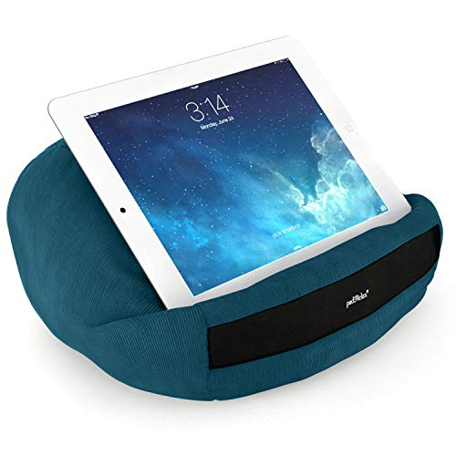 padRelax Casual Petrol Halter für eBook-Reader und Tablets bis 10.5 Zoll, Made in Germany, für Bett, Sofa, Tisch und kompatibel mit jedem Apple iPad, kompatibel mit Samsung Galaxy Tab