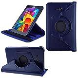 COOVY 2.0 Funda para Samsung Galaxy Tab 3 Lite 7.0 SM-T110 SM-T111 Smart 360º Grados ROTACIÓN Cover Case Protectora Soporte | Azul Oscuro