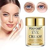 Augencreme, Augenringe Creme, Augencreme Falten, Anti Aging Augenfaltencreme, 24K Gold Repairing Eye Cream, straffende und aufpolsternde Pflege gegen Mimikfalten, Krähenfüße und Augenfalten