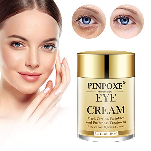 Crema de Ojos, Crema Contorno Ojos, Eye Cream, crema para los ojos restauradora en oro de 24 quilates, reduce las arrugas, la hinchazón, la piel floja y los ojos hinchados