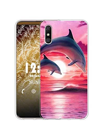 Sunrive Kompatibel mit DOOGEE X53 Hülle Silikon, Transparent Handyhülle Schutzhülle Etui Hülle (Q Delfin)+Gratis Universal Eingabestift MEHRWEG