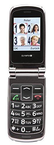 OLYMPIA 2164 Komfort-Mobiltelefon mit Großtasten/großem Farb-LC-Display Modell Style schwarz