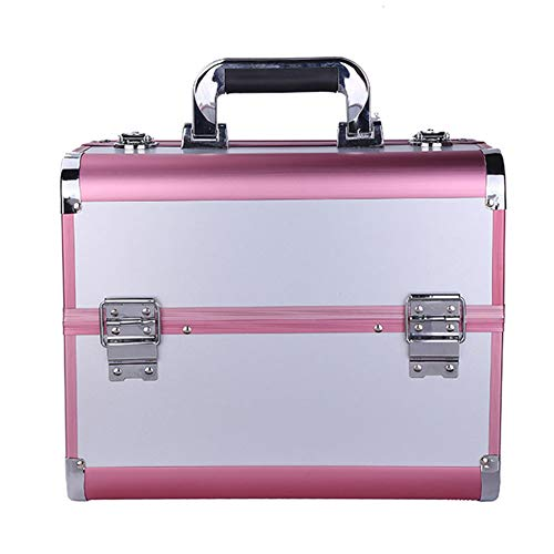 ZCPDP Vouwnagel Make-up Toolbox Waterdichte Grote Capaciteit Multi-Layer Dubbele Open Handvat Lock Afneembare Make-up Toiletten en Make-up Styling Opbergdoos