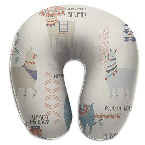 Almohada en Forma de U, Cuello, Llama, Naranja, Viaje, Almohada Multifuncional, Coche, avión