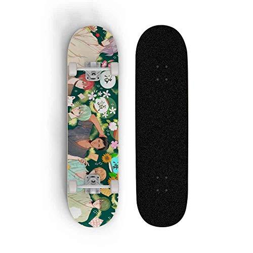 Dmxiezib Skateboards Cruiser Deck Longboard Kuroko's Basketball Anime Series Board Surface for Complete Skateboards Four-Wheel Double tilt Skateboard The Best Gift for Christmas