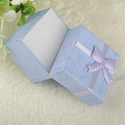 Caja organizadora de joyas de 4 x 4 x 3 cm, 8 x 5 x 2,5 cm, color morado