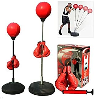 5Star-TD Boxing Punching Speed Ball Boxing Bag Anti Stress Fitness with Boxing Glove for Teenagers and Adults Adjustable 4...