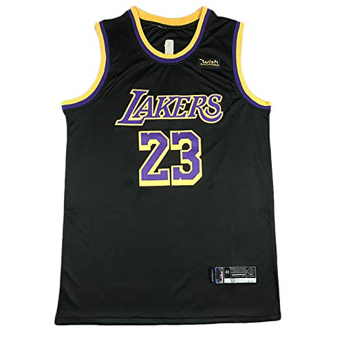 DSASAD Adult Los Angeles Lakers 3# Anthony Davis 23# Lebron James 24# Bryant Chaleco de Baloncesto Camiseta, Fibra de poliéster, Secado rápido y Transpirable NO.23-XL
