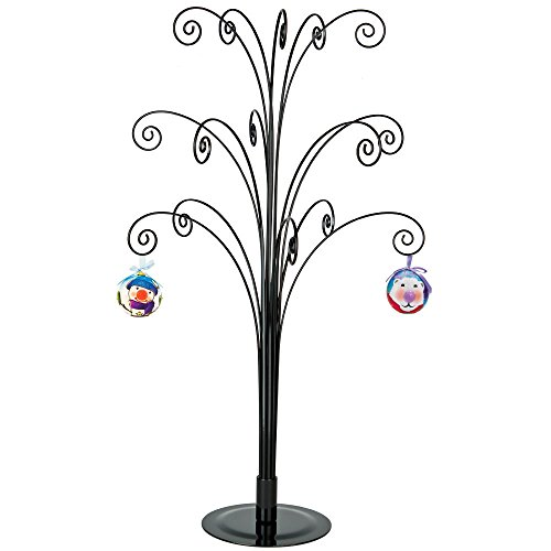 HOHIYA Ornament Tree Display Stand Metal Halloween Christmas Wire Hanger 20 inch Black