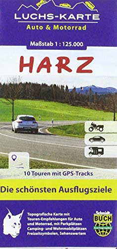 Luchskarte Harz Auto & Motorrad: Die schönsten Ausflugsziele