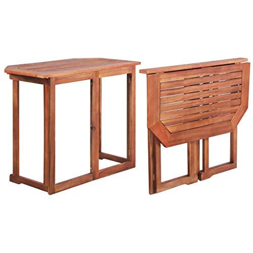 vidaXL Akazie Massiv Balkontisch Klapptisch Gartentisch Terrassentisch Tisch