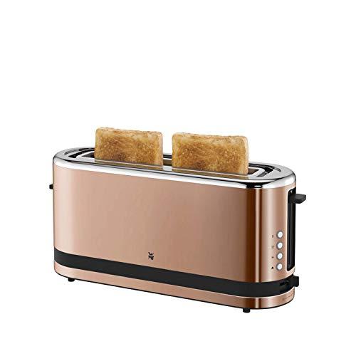 WMF Küchenminis Toaster Langschlitz mit Brötchenaufsatz, 900 W, XXL Toastscheiben, 7 Bräunungsstufen, Bagel-Funktion, Toaster edelstahl matt/kupfer