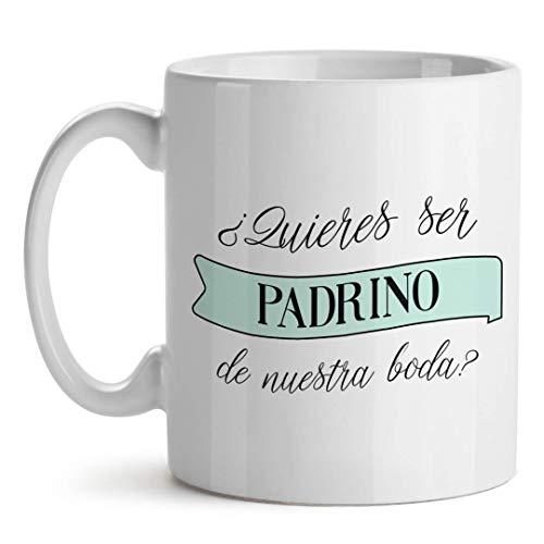 Kadoo Regalos Taza Personalizable Boda Quieres Ser Mi Padrino