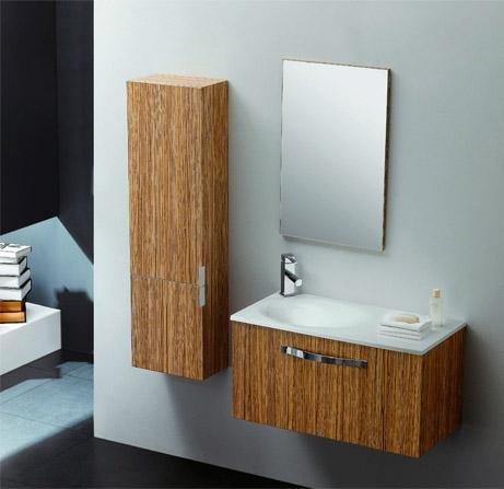 Badkamermeubel, wastafel en spiegel model Florenz, zonder montage