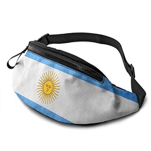 GOSMAO Riñonera Deportivo Bolso Cintura Cinturón Ajustable Running Belt Bolsa de Correr Bandera Argentina Vintage