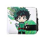 NUANDI Anime Wallet My Hero Academia Carteras De Juegos Cosplay School Students Money Bag Titular De La Tarjeta Bifold Monedero para