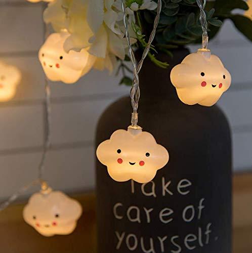 Gwill - Guirnalda de Luces LED (1,5 m, 10 ledes, Funciona con Pilas, para Dormitorio, Fiestas, Vacaciones, decoración)