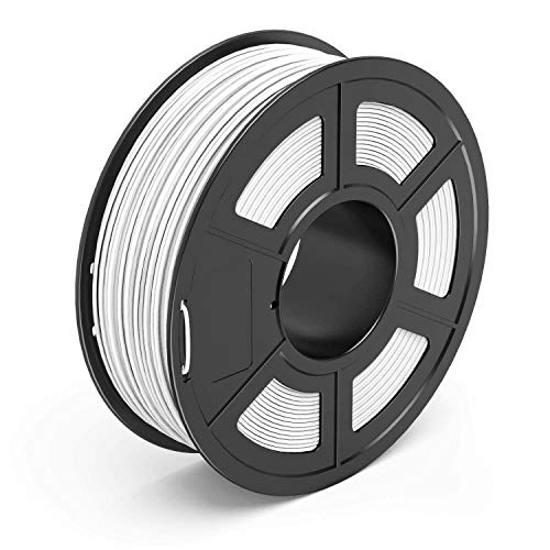 PLA Filament 1.75mm, 3D Printing PLA Filament for 3D Printer, 1kg Spool 3D Printing Material PETG, Dimensional Accuracy +/- 0.02 mm (White)