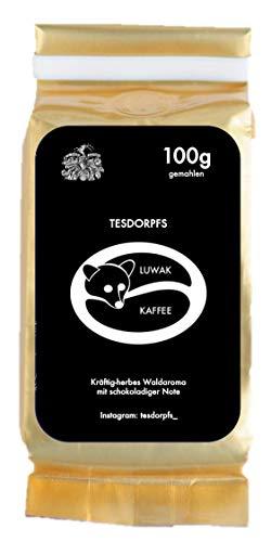 Kopi Luwak Kaffee - einzigartige Feinkostspezialität aus Indonesien für den Winter von frei lebenden Luwakkatzen - Katzenkaffee, das perfekte Geschenk! (100 GR gemahlen (ground))