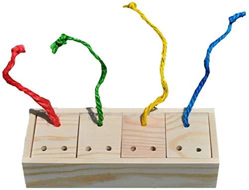 JPSOUP Bird Inteligencia de Juguetes de Madera - Caja cosechando alimento Feeder - Loro Tratar de formación, for Aves de pequeño tamaño Gris Africano cacatúa Periquito Cockatiel