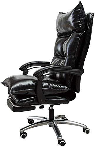 MGE Premium bureaustoel Comfort Executive Swivel Computer stoel, High-Back Faux lederen bekleed, Ergonomisch Reclining ontwerp, verstelbare hoogte, met voetsteun, zwart