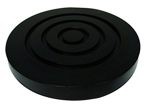 KUNZER (WK 10125) Gummi-Sattelkissen 125mm – Schwarze Auflage für Wagenheber WK 1010, WK 1011 FSH und WK 1032 – Rillung