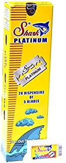 100 Shark Platinum Double Edge Razor Blades