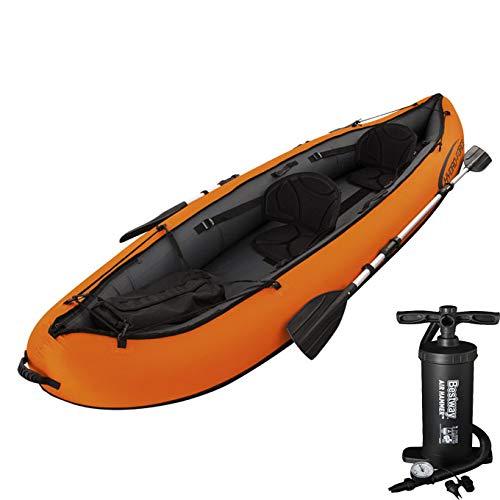 LWZ Hydro-Force Rápido X2 Kayak con Remos, 2 Persona Capacidad, Naranja