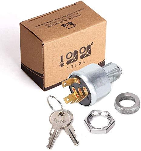 10L0L Golf Cart Key Switch for EZGO 33639G01, Ignition Switch for EZGO Golf Cart with Lights (Standard Key)